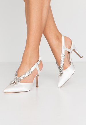 GEMINISLINGBACK TRIM COURT - High heels - white