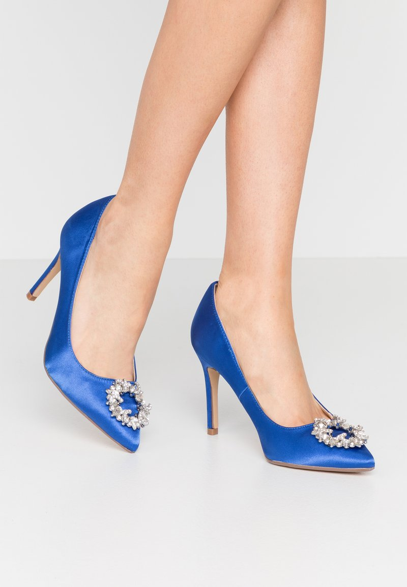 Dorothy Perkins - GLADLY POINTED TRIM COURT - High heels - blue