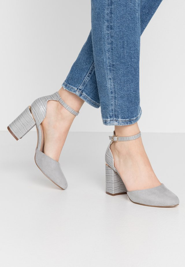 DEBS ROUND TOE TWO PART COURT - High heels - grey