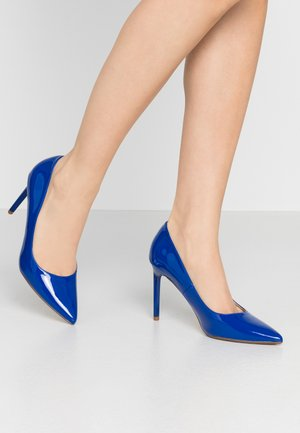 DESIREE SET BACK COURT - High heels - cobalt