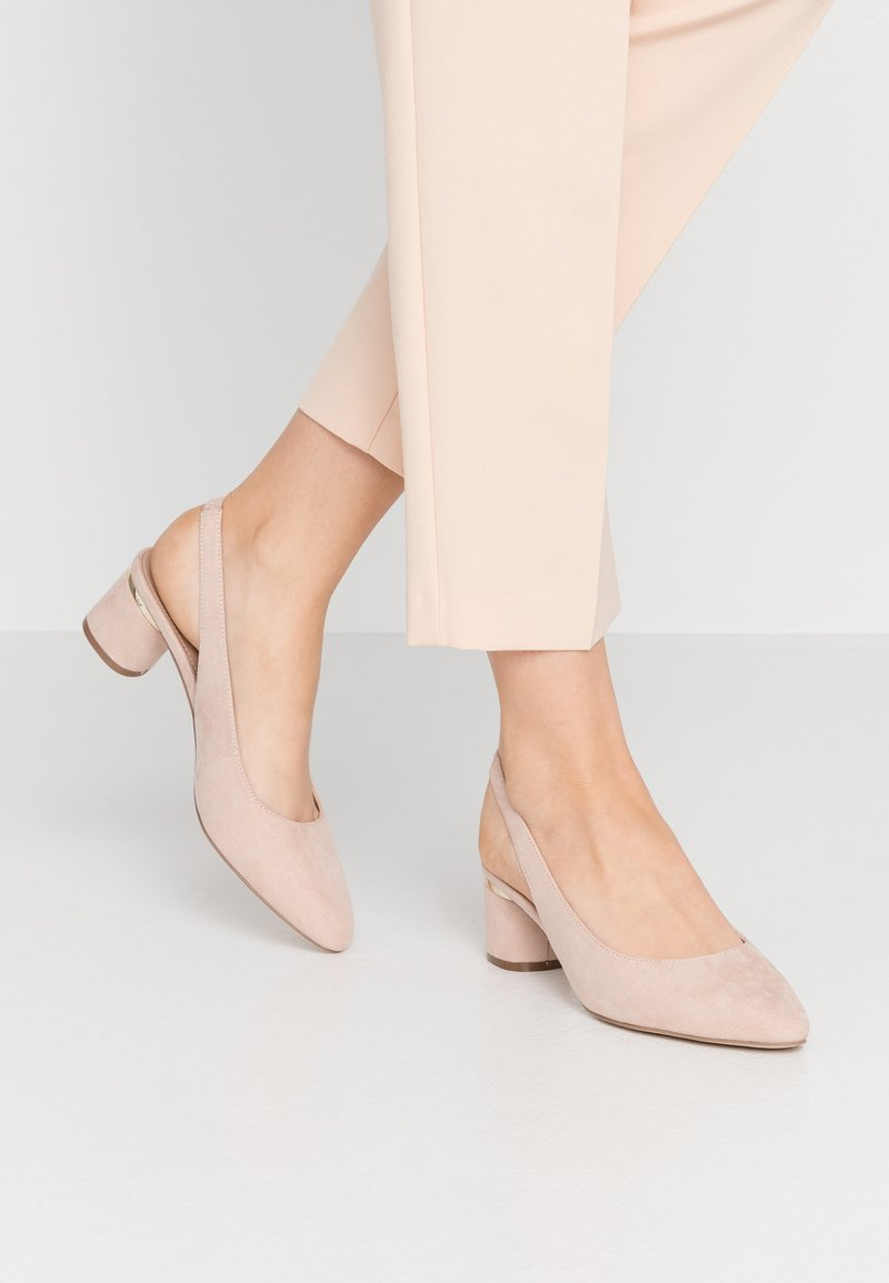 Dorothy Perkins - DOLLARCYCLINDER HEEL SLINGBACK COURT - Classic heels - nude