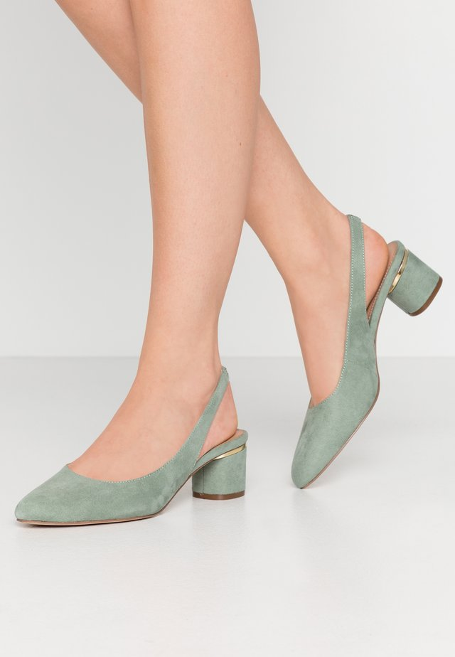 DOLLARCYCLINDER HEEL SLINGBACK COURT - Pumps - green