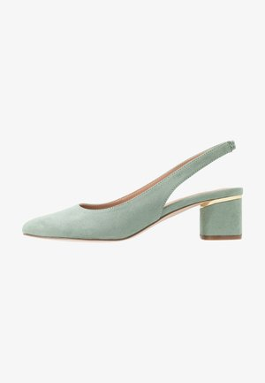 DOLLARCYCLINDER HEEL SLINGBACK COURT - Decolleté - green