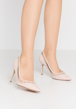 ELIZA SCALLOP DETAIL COURT - Høye hæler - blush