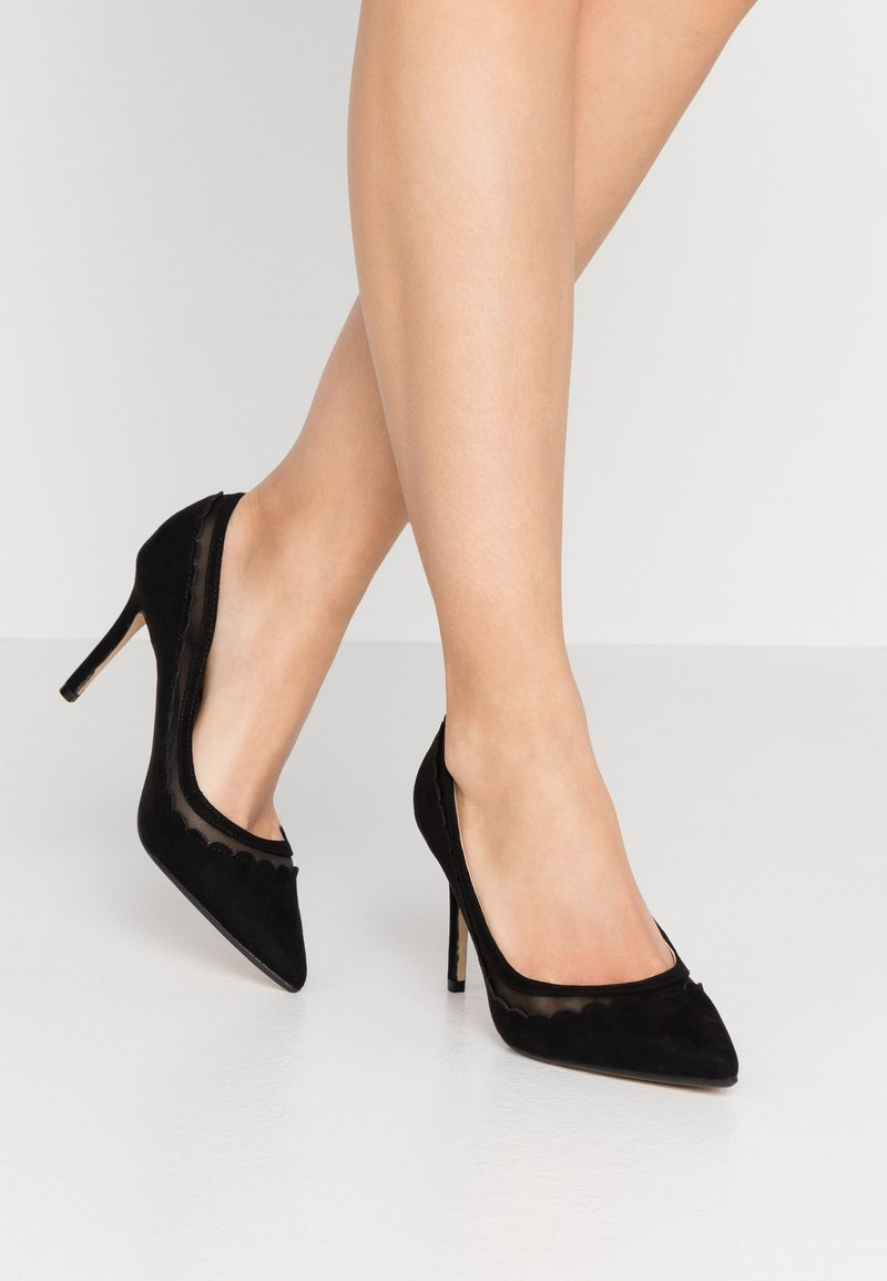Dorothy Perkins - ELIZA SCALLOP DETAIL COURT - High heels - black