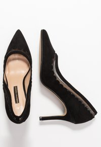 Dorothy Perkins - ELIZA SCALLOP DETAIL COURT - High heels - black - 3