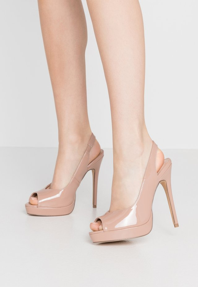 ENVY  - Peeptoe heels - camel