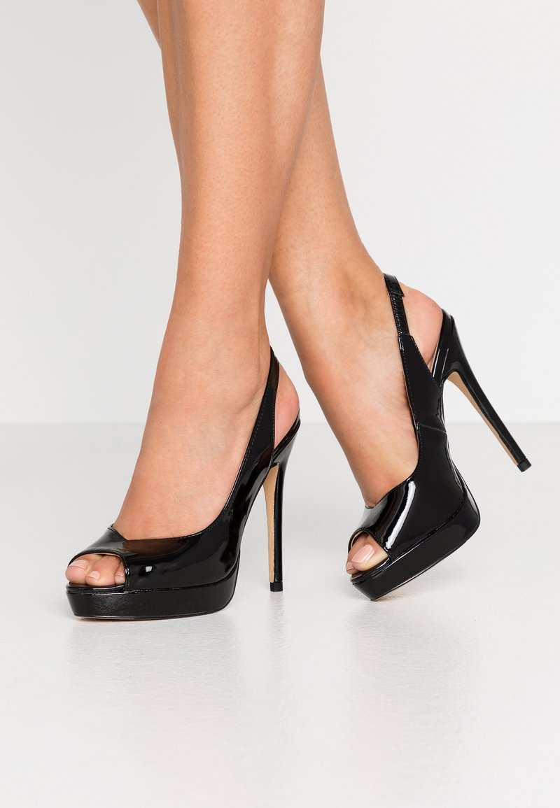 Dorothy Perkins - ENVY  - Peeptoe heels - black