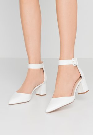 ELSA PART BLOCK HEEL - Klassiske pumps - white