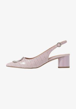 EMMA CROC SLING POINT - Classic heels - lilac