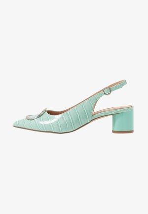 EMMA CROC SLING POINT - Klassiske pumps - green