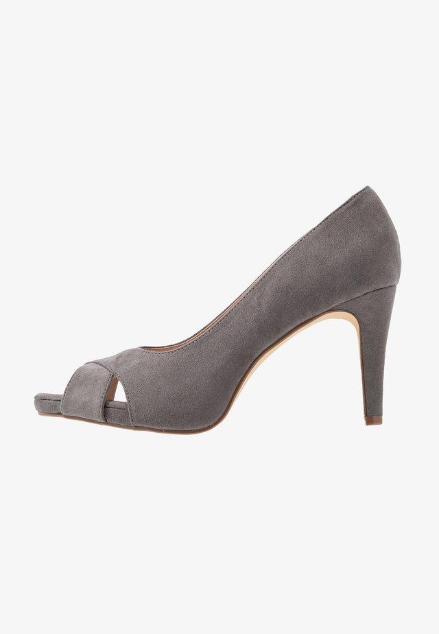 DINA PLATFORM - Højhælede peep-toes - grey