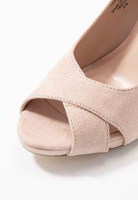 Dorothy Perkins - DINA PLATFORM - Høye hæler med åpen front - nude - 2