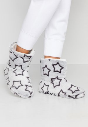 CLIPPED STAR BOOTIE - Slippers - light grey