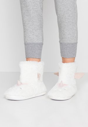 UNICORN NOVELTY BOOTIE - Tofflor & inneskor - white