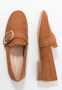Dorothy Perkins - LOLA BUCKLE LOAFER - Instappers - tan - 3