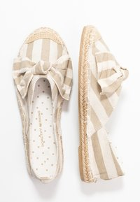 Dorothy Perkins - CAROLINA BOW TACKED - Espadrilles - natural