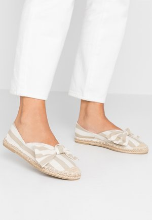 CAROLINA BOW TACKED - Espadrilky - natural