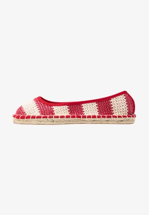 CANDY STRIPE - Espadrilles - red
