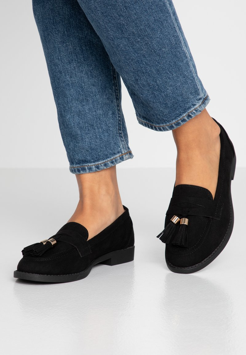 Dorothy Perkins - LORDE TASSEL LOAFER - Instappers - black