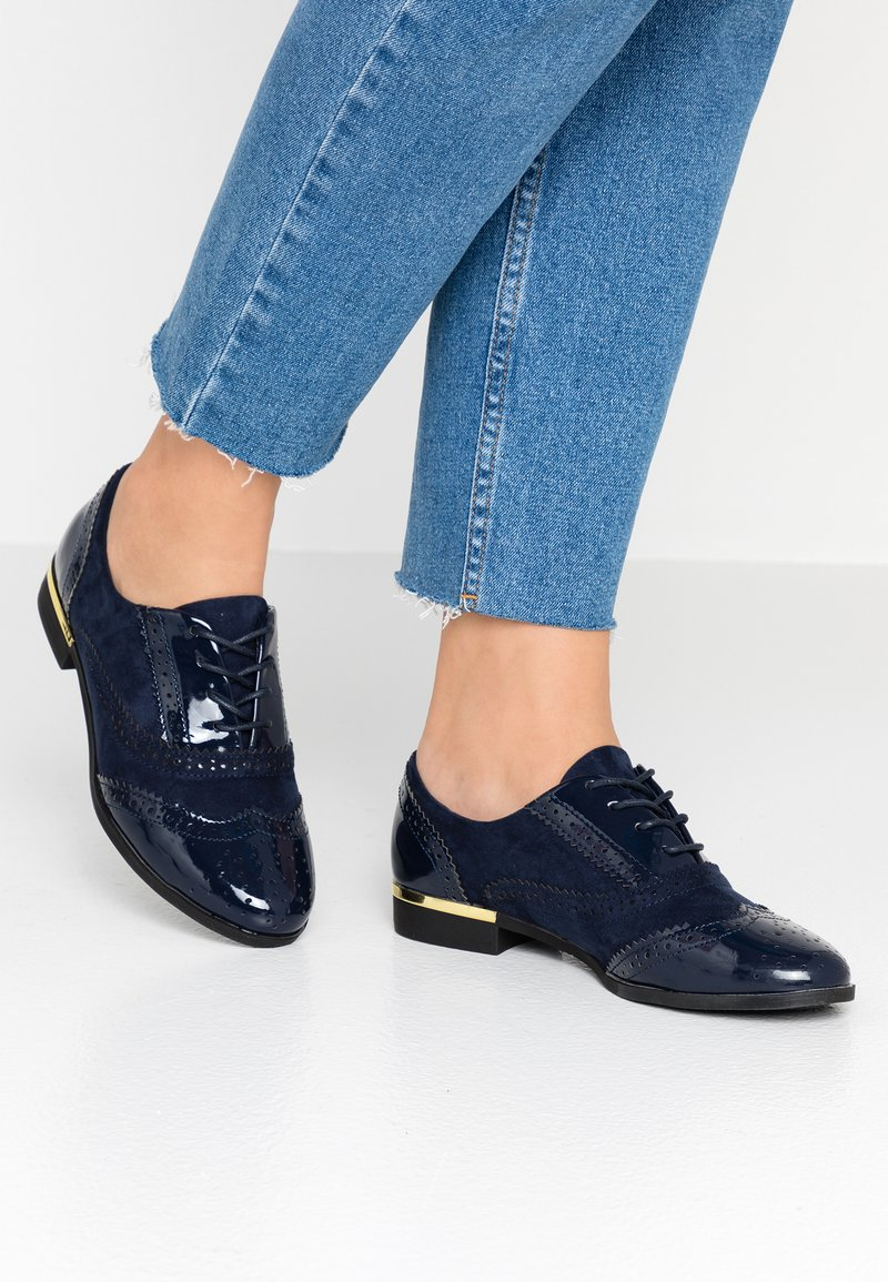 Dorothy Perkins - LOU LOU LACE UP BROGUE - Lace-ups - navy