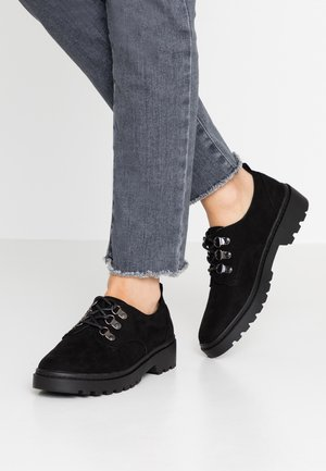 LUCK CHUNKY LACE UP - Stringate - black