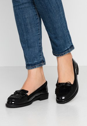 LETTY FRINGE LOAFER - Slip-ons - black