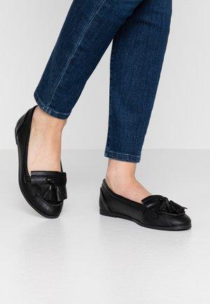 LATINO FRINGE LOAFER - Scarpe senza lacci - black