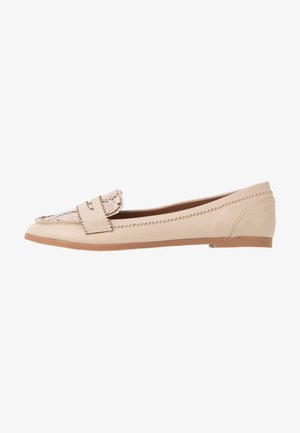 LOYLE SNAKE LOAFER - Slip-ons - cream