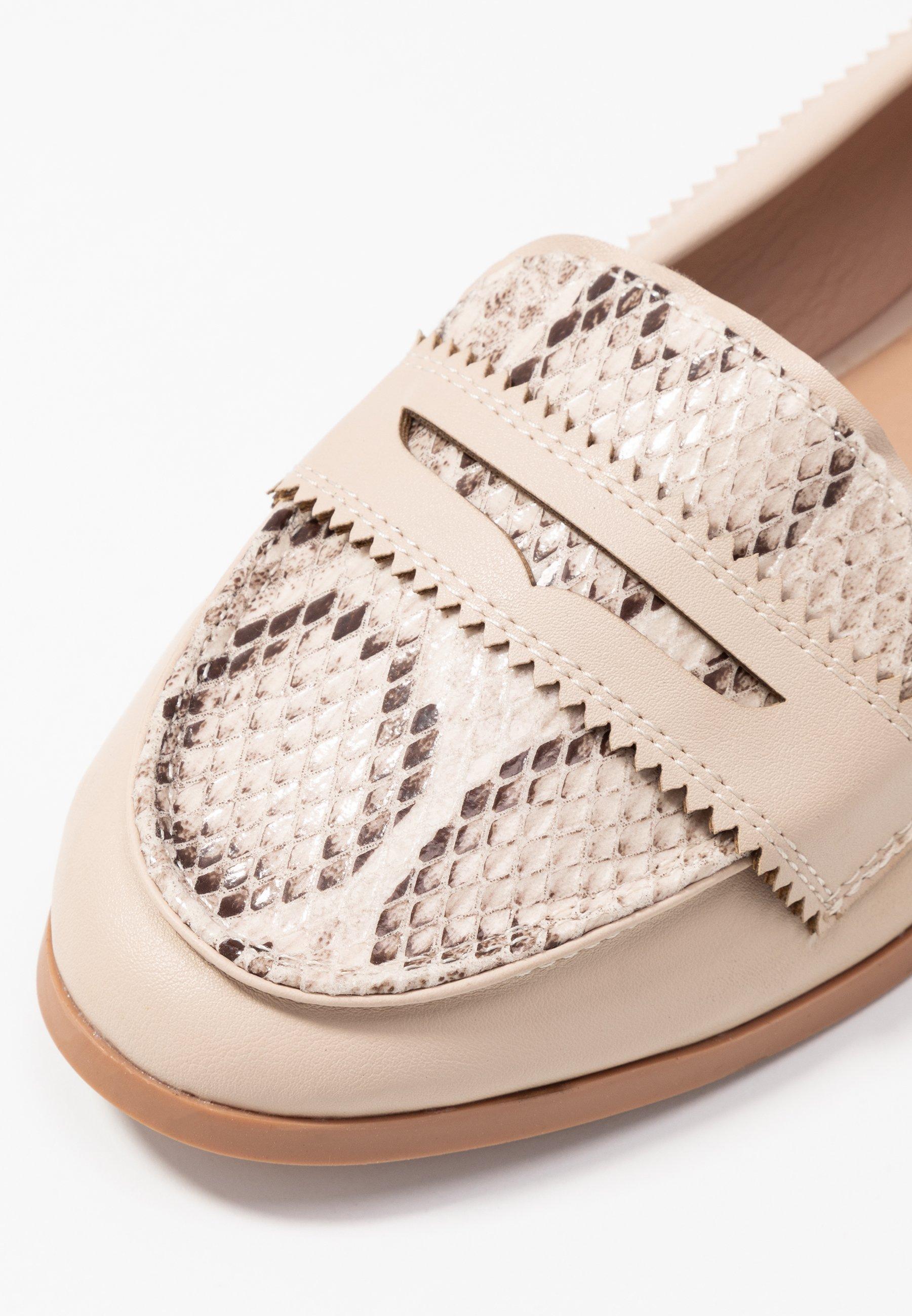 Dorothy Perkins Loyle Snake Loafer - Mocassins Cream