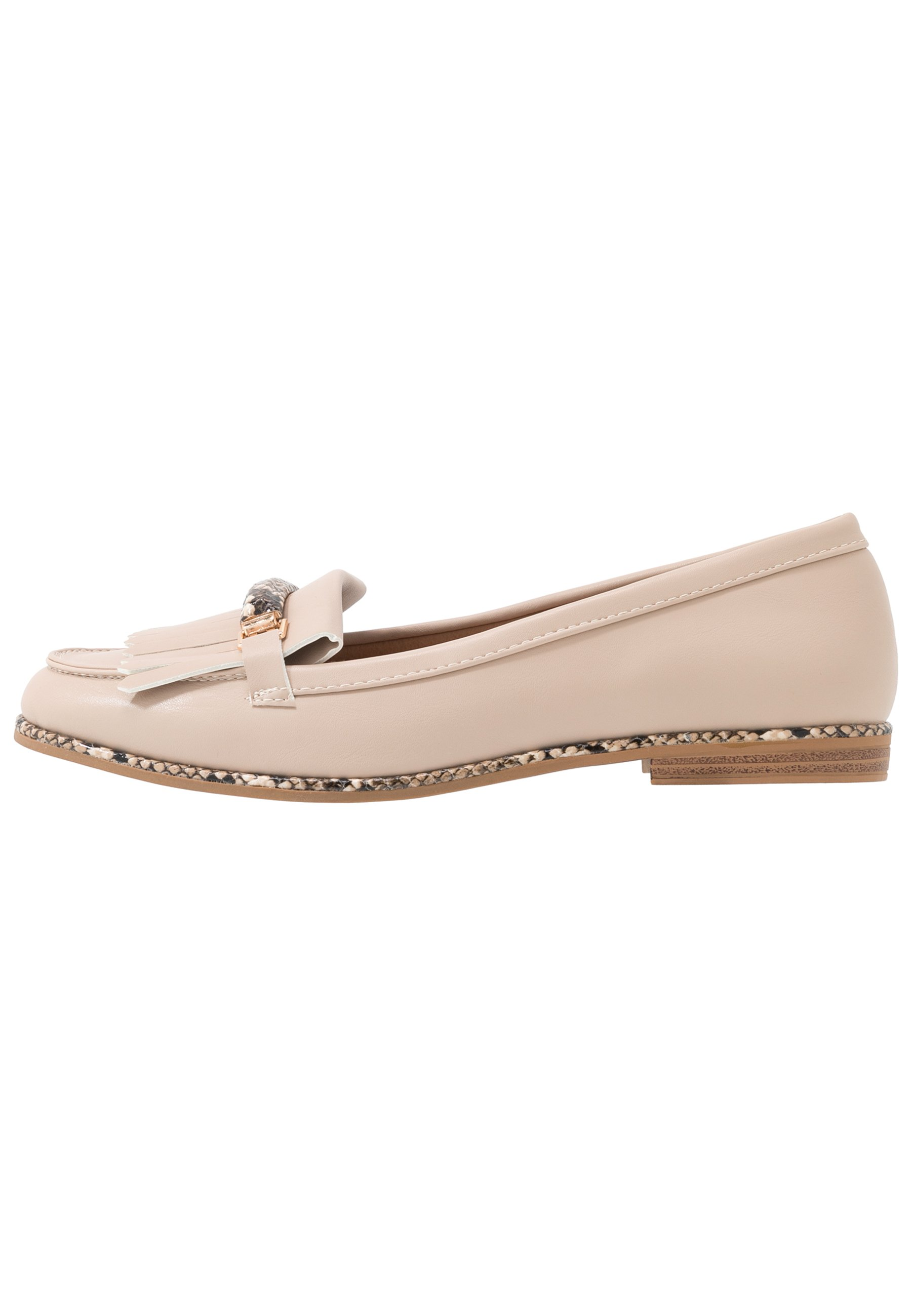 Dorothy Perkins LOOP BAR FRINGE LOAFER - Mocassins - taupe