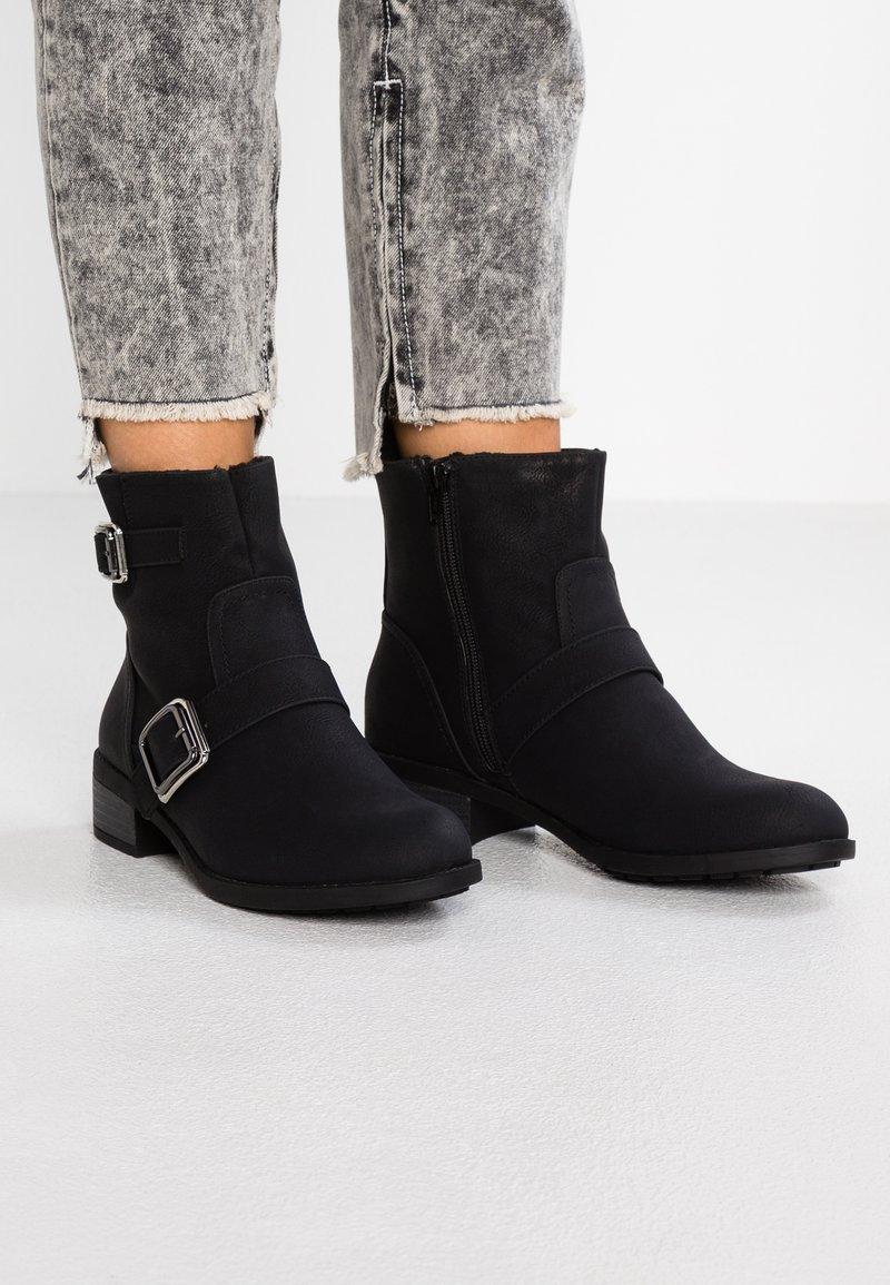 Dorothy Perkins - MUNCH - Cowboy/biker ankle boot - black