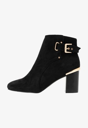APPLE GOLD DETAIL BASIC - Ankle boots - black