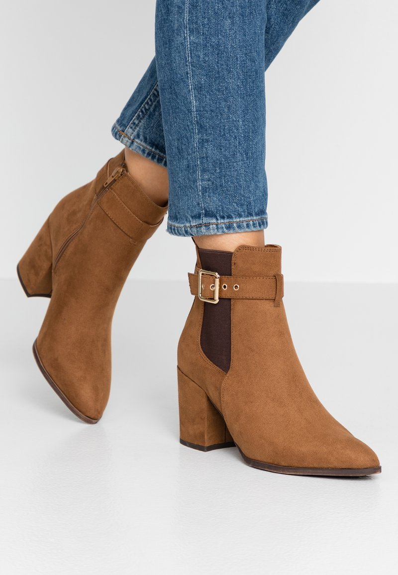 Dorothy Perkins - ALMA BUCKLE HEELED - Ankle Boot - tan