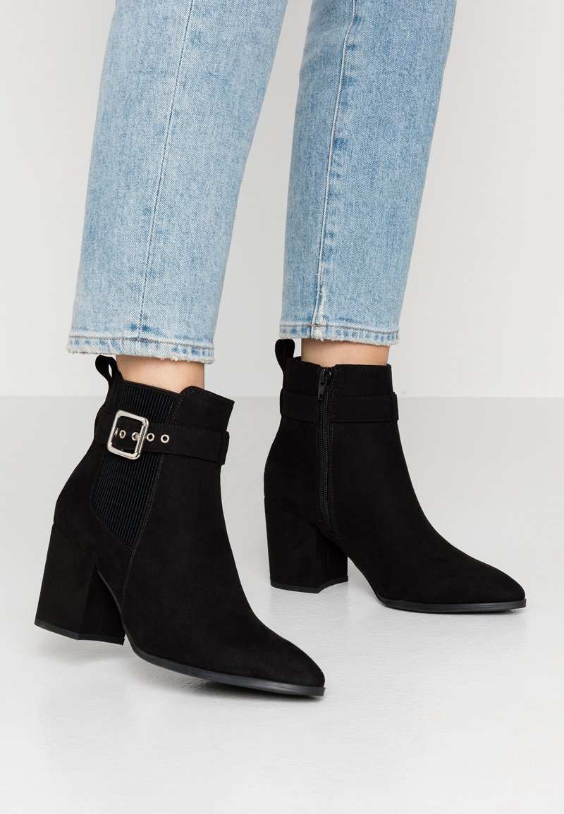 Dorothy Perkins - ALMA BUCKLE HEELED - Ankle boots - black