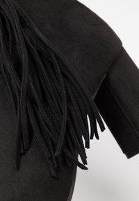 Dorothy Perkins - ANAIS FRINGE - Korte laarzen - black - 2