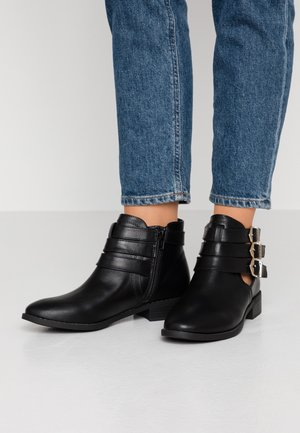 MOPPET OPEN SIDED FESTIVAL TRIPLE BUCKLE - Ankle boots - black