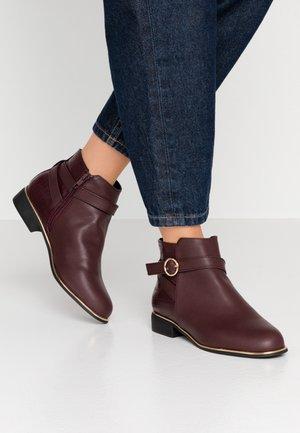 MINA TIPPED JODPHUR - Ankle boots - burgundy