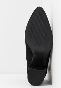 Dorothy Perkins - ABSIN OPEN SIDED HEELED - Kotníková obuv - black - 6