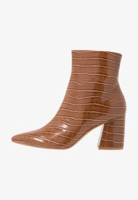 Dorothy Perkins - ANICA CROC POINTED BLOCK - Classic ankle boots - tan - 1