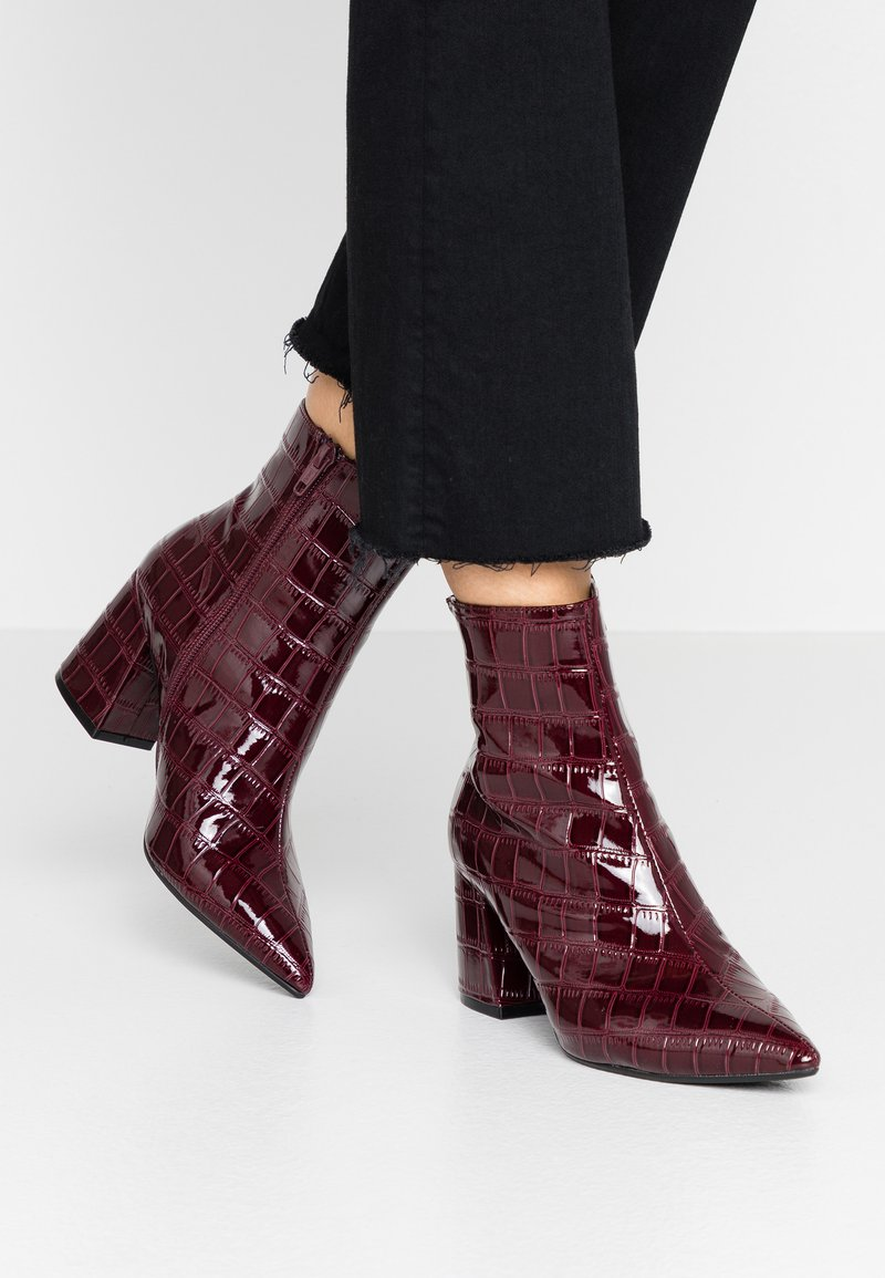 Anica Croc Pointed Block   Bottines by Dorothy Perkins