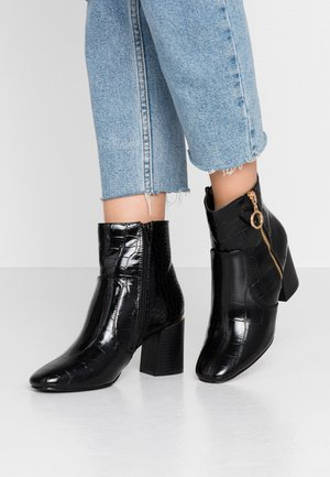 ALIVE HEEL SIDE ZIP BOOT - Bottines - black
