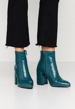ABSOLUTE - High heeled ankle boots - teal