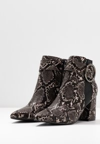 Dorothy Perkins - ALESSIA POINTED BUCKLE - Ankle boots - brown - 4