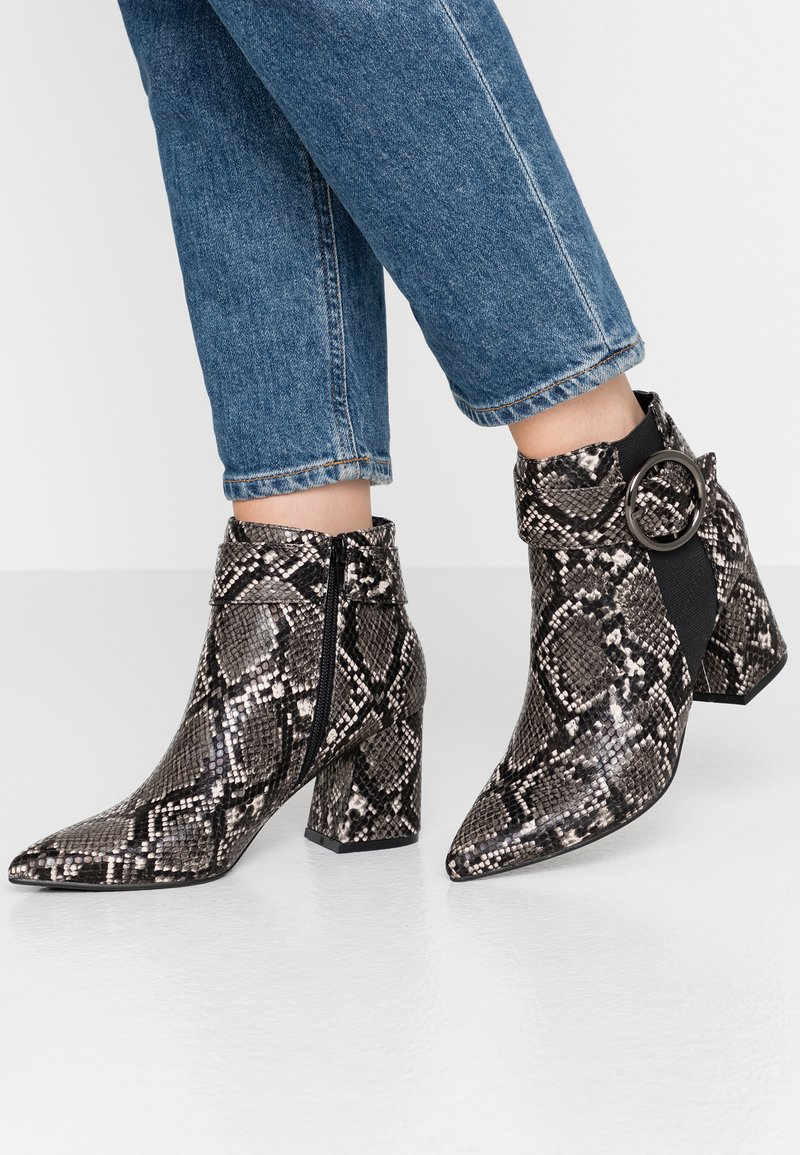Dorothy Perkins - ALESSIA POINTED BUCKLE - Ankle boots - brown