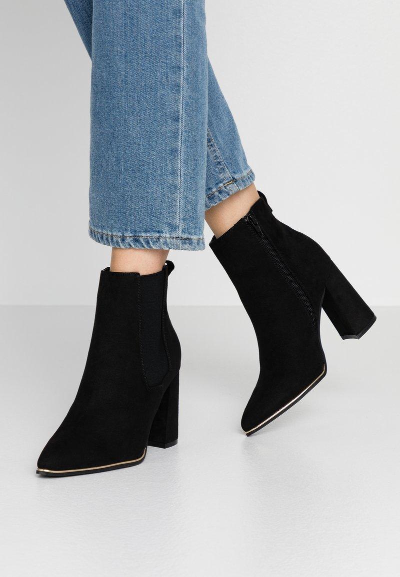 Dorothy Perkins - AMERIE PARTY BOOT - Kotníková obuv na vysokém podpatku - black
