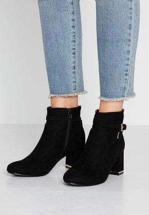 ANNA BUCKLE DETAIL - Boots à talons - black