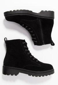 Dorothy Perkins - OLA LACE UP HIKER  - Šněrovací kotníkové boty - black - 3