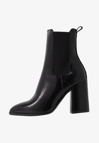 Dorothy Perkins - ARGYLL HEELED POINT BOOT - Ankelboots med høye hæler - black - 1