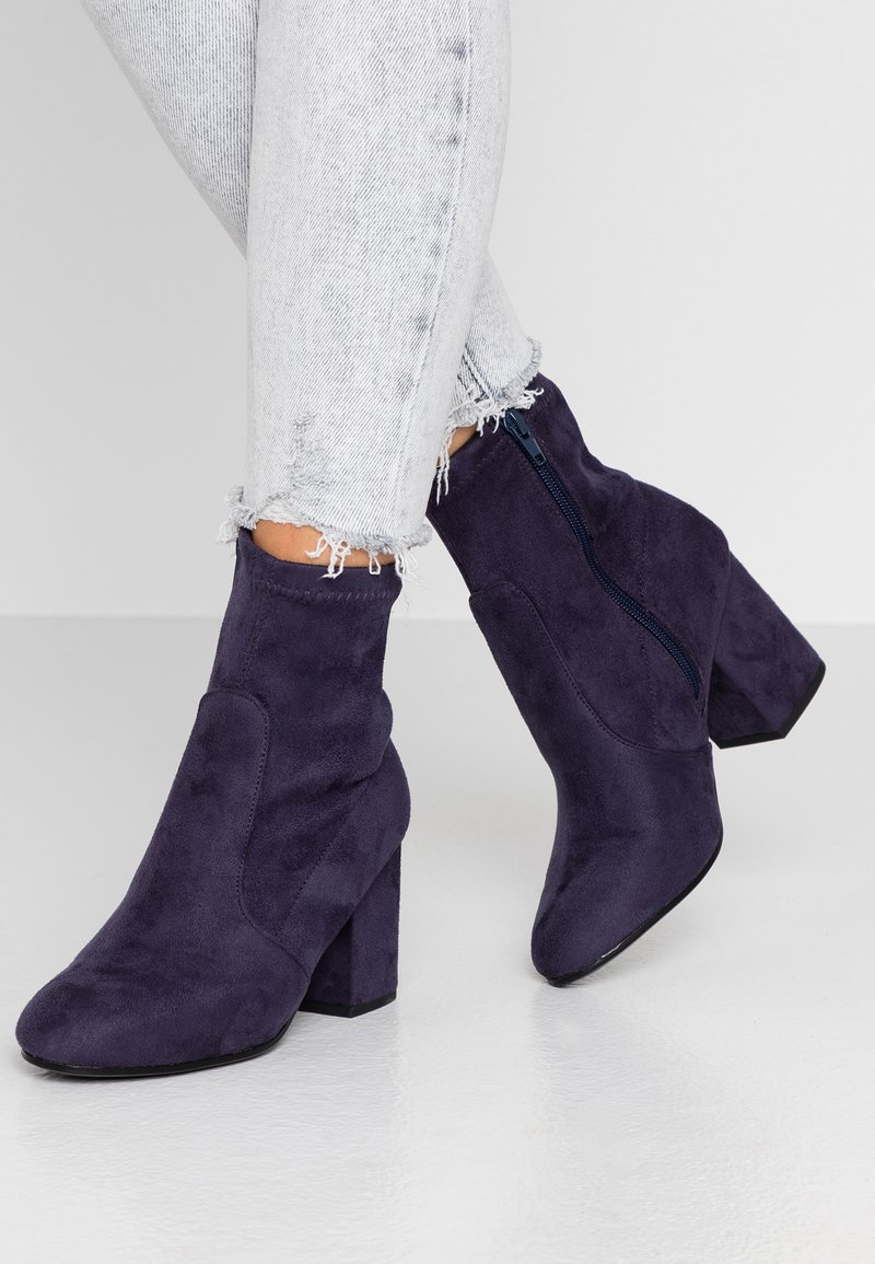 Dorothy Perkins - AVERY MF SOCK BLOCK HEEL  - Classic ankle boots - navy